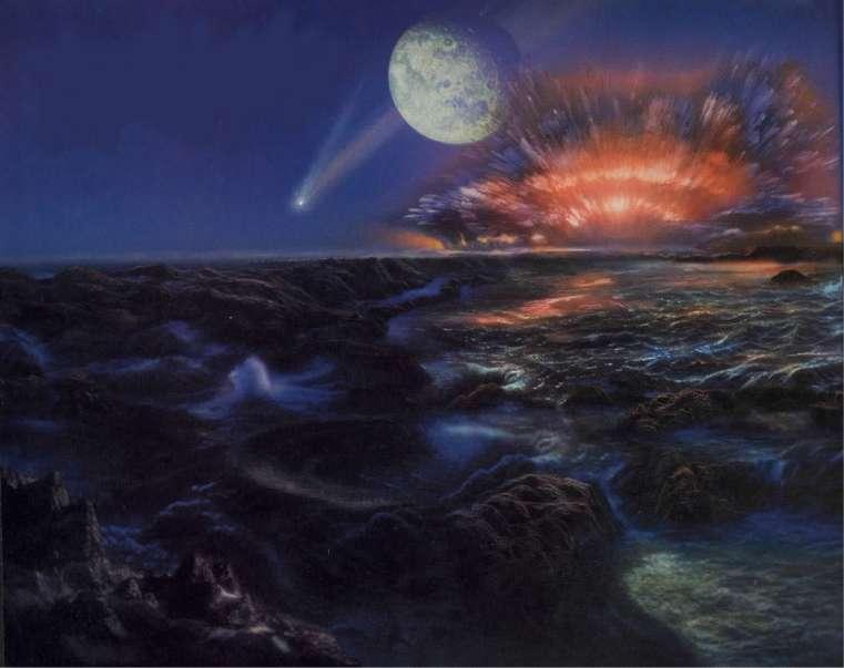Resultado de imagen de la formación de los océanos y atmósfera de la Tierra